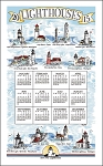 F3277 Calendar Towel Lighthouses 17