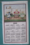 82-779 Calendar Towel, Barbecue Guys, 16
