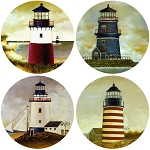 AS2080 Coasterstone Coasters Lighthouses Set of 4