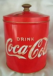 66800 Coca-Cola Tin Canister Red