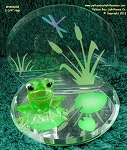 EM3 0233 Glass Baron Frog Prince Of The Pond 2-3/4