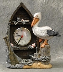 L-1268 P/R Pelican With Boat Clock 7-1/4