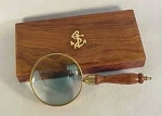 Brass Magnifying Glass In Box 8