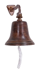 B-28303 U.S. Navy Wall Mount Antique Look Aluminum Bell