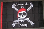 Pirate Flag Surrender The Booty 3' x 5' Nylon