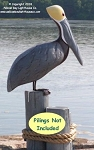 3753111 Brown Pelican, Carved Wood, Without Pilings