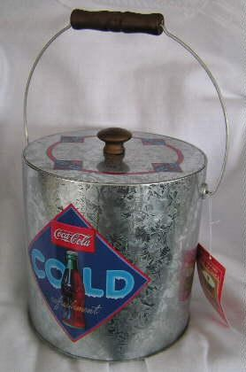 66541 Coca-Cola Tin Insulated Ice Bucket