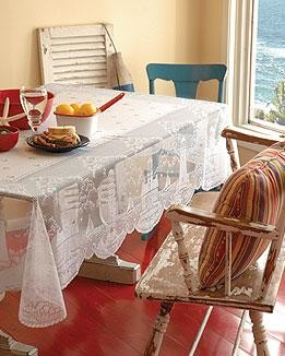 "Lighthouse Tablecloth60""x84"" White By Heritage Lace"