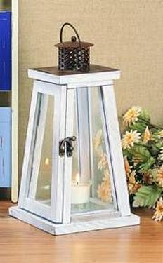 Wood Lighthouse Lantern 13""
