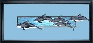 Dolphin Dance Counted Cross Stitch Pattern