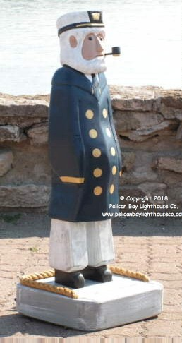 "3750150 Captain in Blue Coat, Carved Wood, 35"" High"