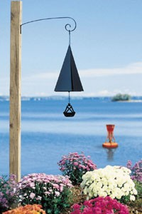 "Wind Bell, Boston Harbor Bell, 10"", Two Tones"
